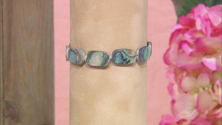 Abalone Shell Stretch Bracelet Set Of 3, 7.5 inch
