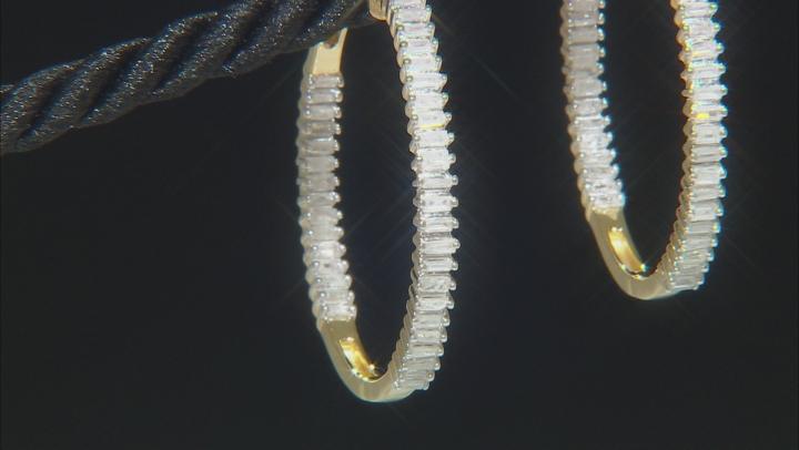 White Diamond 18K Gold Over Sterling Silver Earrings 1.00ctw