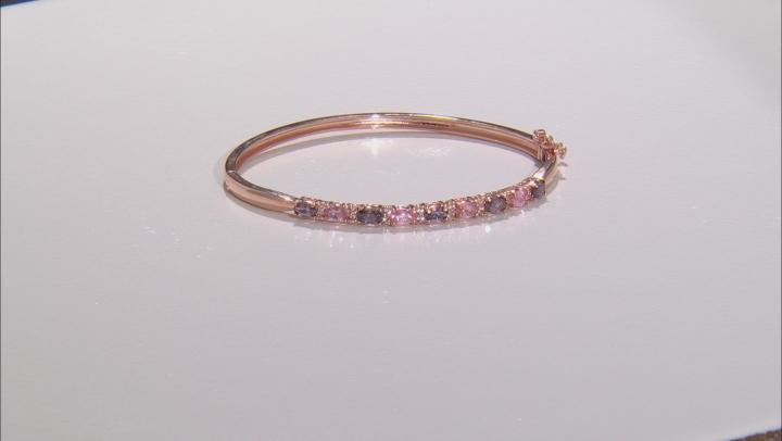 Multi-Color Spinel 18k Rose Gold Over Sterling Silver Bracelet 2.18ctw