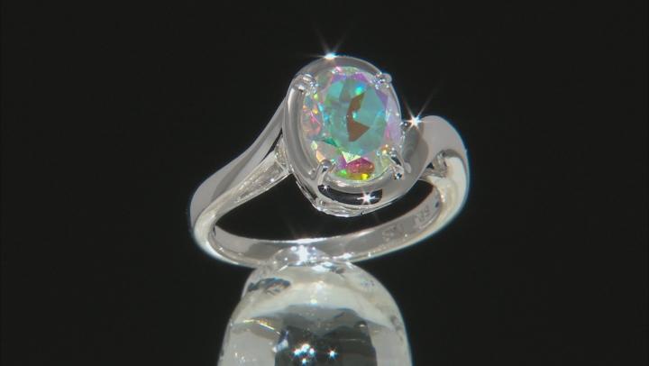 Multi-Color Mercury Mist® Topaz Rhodium Over Sterling Silver Ring 2.82ct