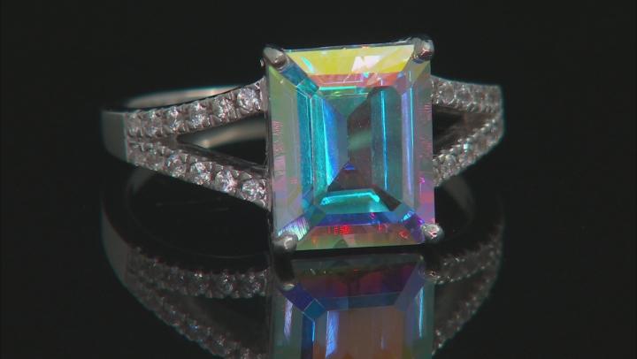 Multi-Color Mercury Mist® Topaz Rhodium Over Sterling Silver Ring 4.31ctw