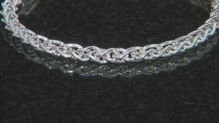 Sterling silver wheat chain bracelet 7.25 Inch