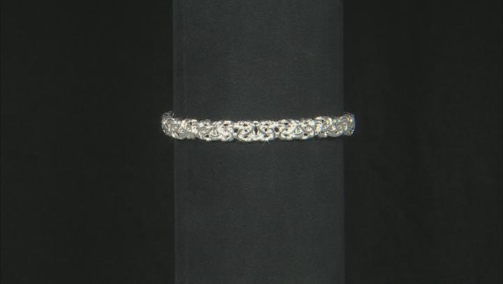 Sterling Silver Byzantine Hollow Bracelet