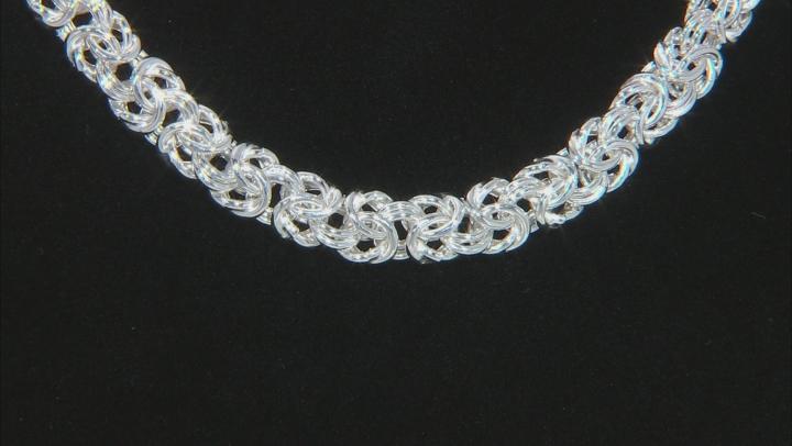 Sterling Silver Byzantine Necklace 18 inch