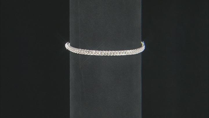 Sterling Silver Byzantine and Cuban Link Adjustable Set of 2 10 Inch Bracelets