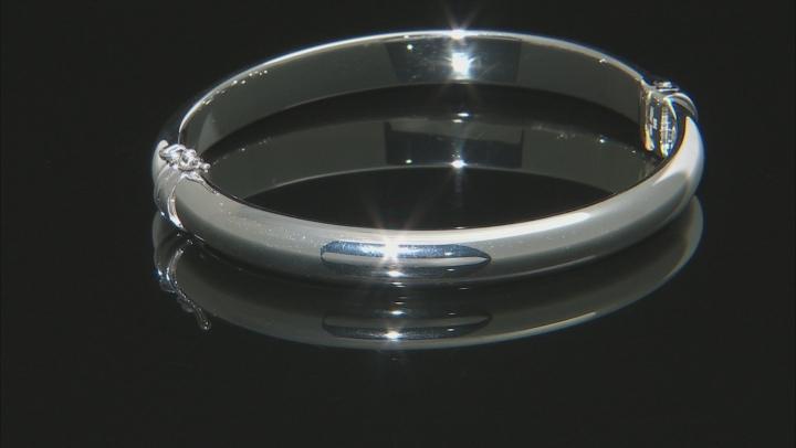 Sterling Silver Polished Bangle Bracelet 7.25 Inches