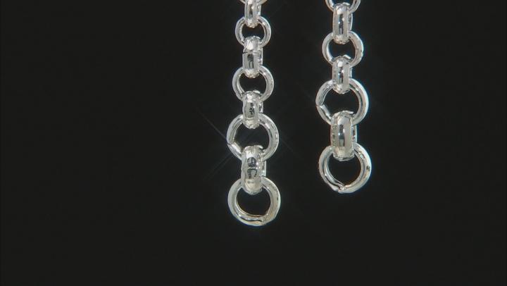 Sterling Silver Graduated Rolo Earrings
