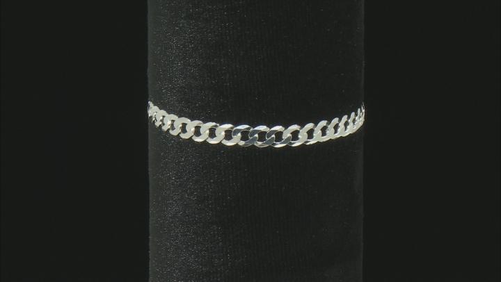 Sterling Silver 5.37MM Diamond Cut Curb Bracelet