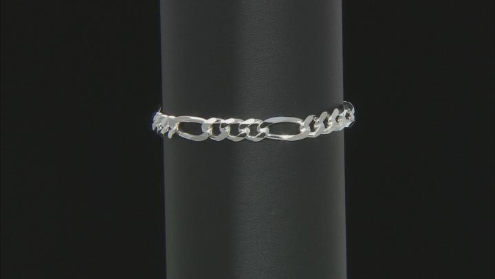 Sterling Silver 6.5MM Figaro Bracelet