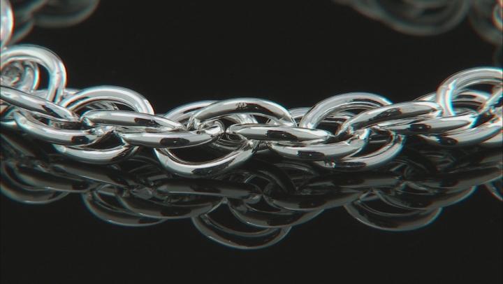 "Sterling Silver Torchon Rope 7.75"" Bracelet"