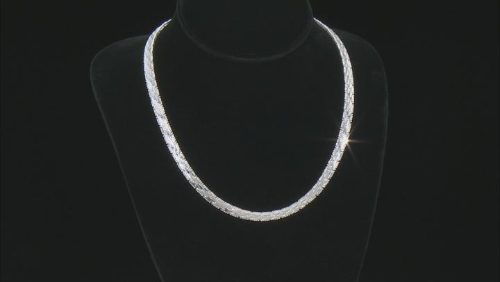 "Sterling Silver 6.75MM 18"" Riccio Collar Necklace"