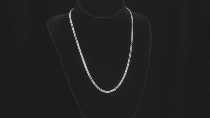 Sterling Silver 3.65MM Diamond-Cut Designer Garibaldi Chain 20 Inch Necklace