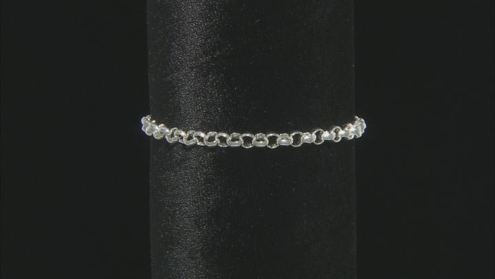 Sterling Silver 4.61MM Rolo Bracelet