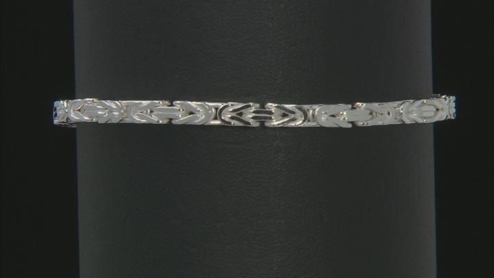 Sterling Silver 3.25MM Squared Byzantine 7.5 Inch Bracelet