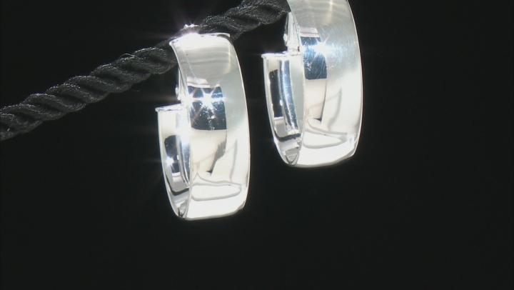 Sterling Silver 22MM Polished Hoop Earrings