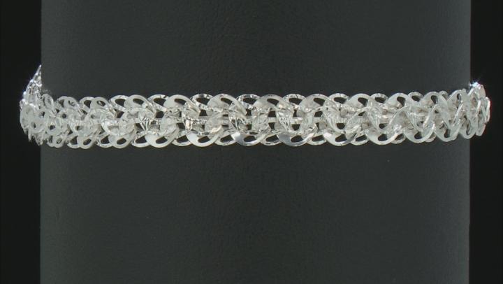 Sterling Silver Flat 6.8MM Phoenix Link 7.5 Inch Bracelet