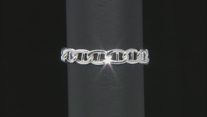 Sterling Silver 10.40mm Mariner Link Bracelet