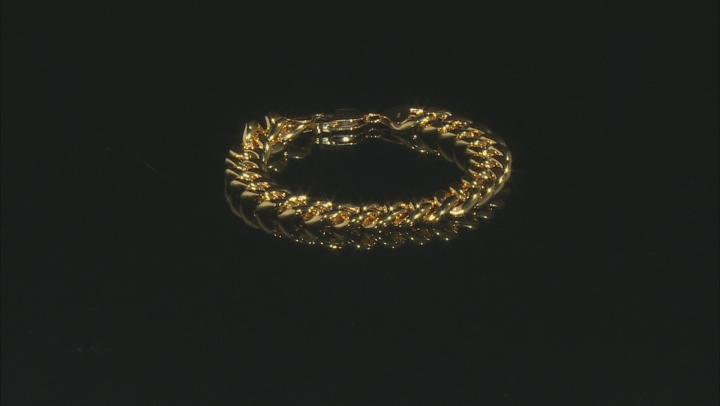 18K Yellow Gold Over Sterling Silver 11.40MM Grumette Link Bracelet