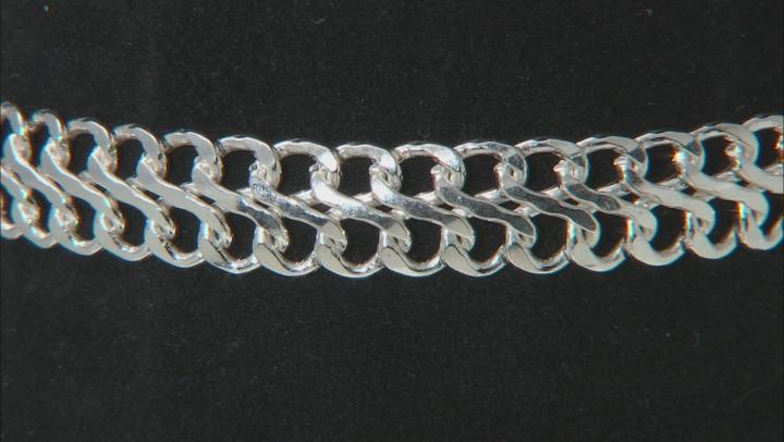 Sterling Silver 7.50MM Domed Infinity Link Bracelet