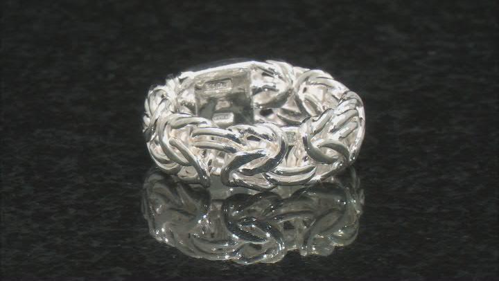 Sterling Silver Byzantine Band Ring