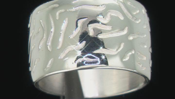 Sterling Silver Wave Design Ring