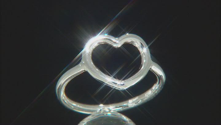 Sterling Silver Open Heart Design Ring