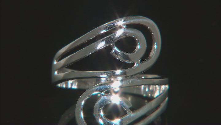 Sterling Silver Bypass Swirl Ring