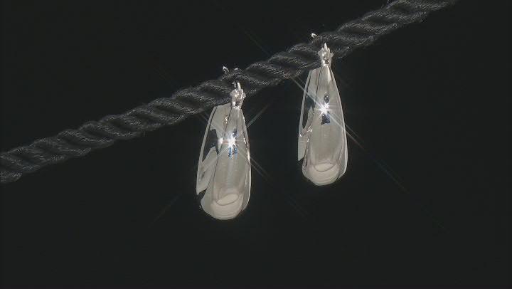 Sterling Silver 24MM Graduated Oval Hoop Earrings