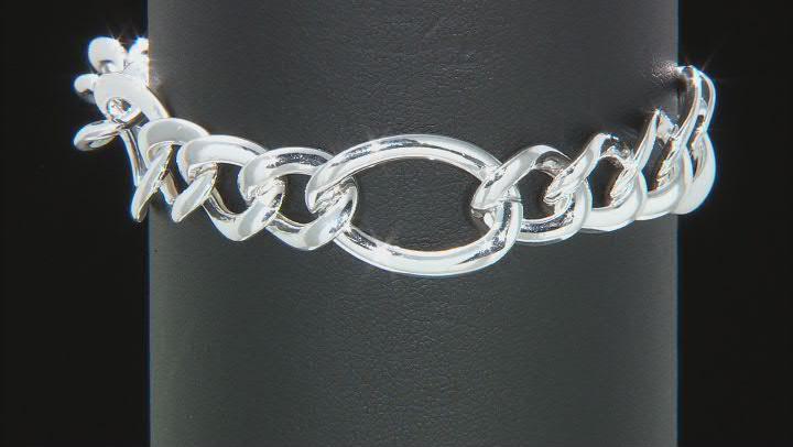 Sterling Silver Figaro Link Bracelet