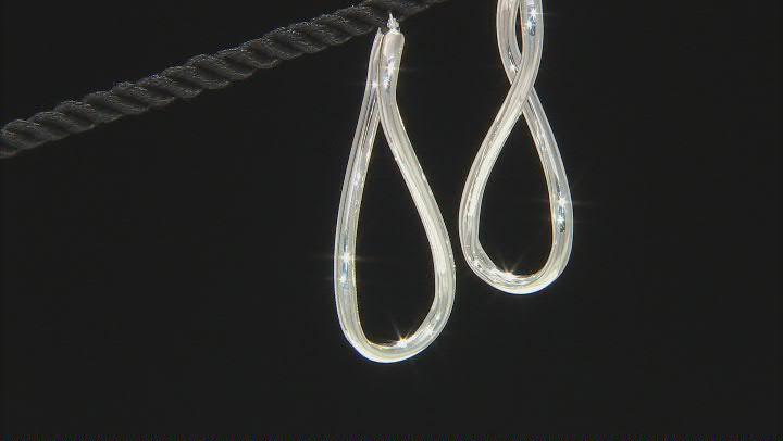 Sterling Silver 3x50MM Infinity Tube Hoop Earrings