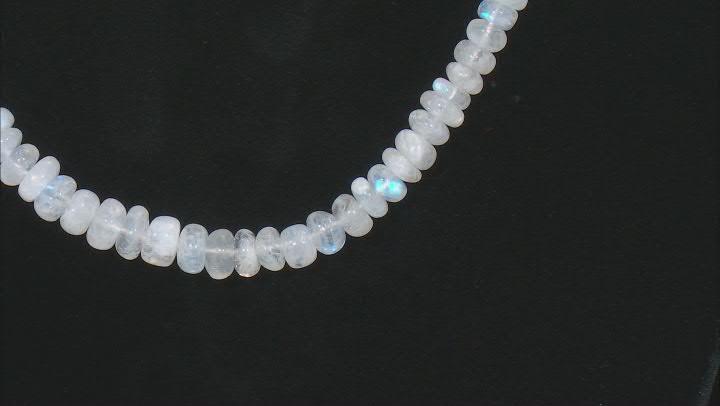 Rondelle Rainbow Moonstone Beaded Necklace