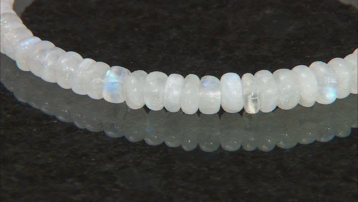 Rondelle Rainbow Moonstone Beaded Bracelet