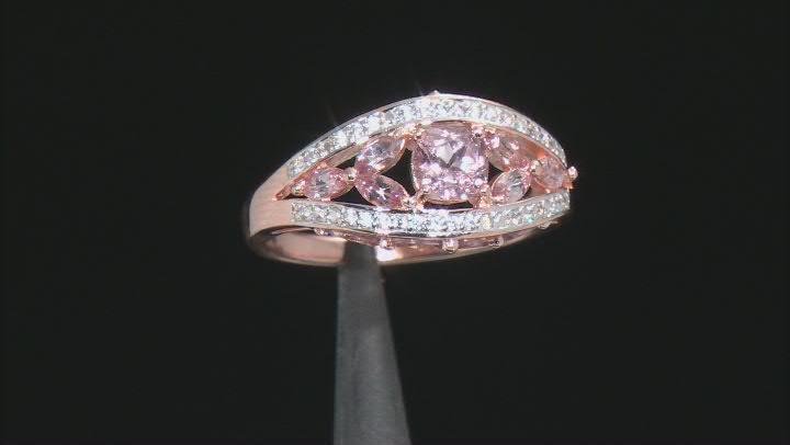 Multi-Color Pink Garnet 18K Rose Gold Over Sterling Silver Ring 2.01ctw