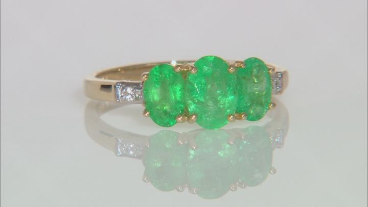 Green Ethiopian Emerald 10k Yellow Gold Ring 1.33ctw