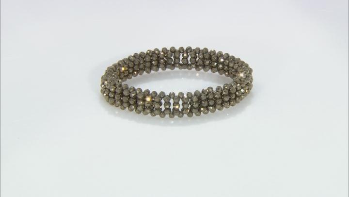 Brown Pyrite Stretch Bracelet
