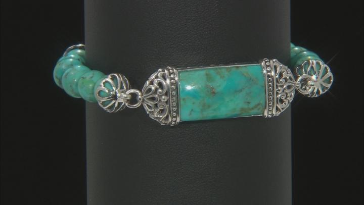 Blue Turquoise Sterling Silver Bracelet