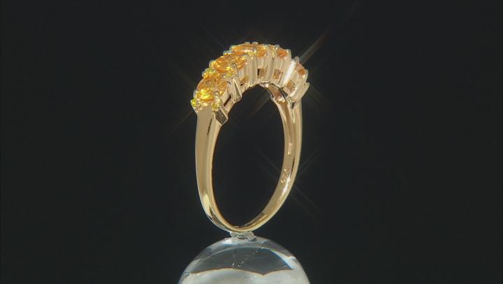 Orange Mandarin Garnet 18k Gold Over Sterling Silver Ring 1.30ctw
