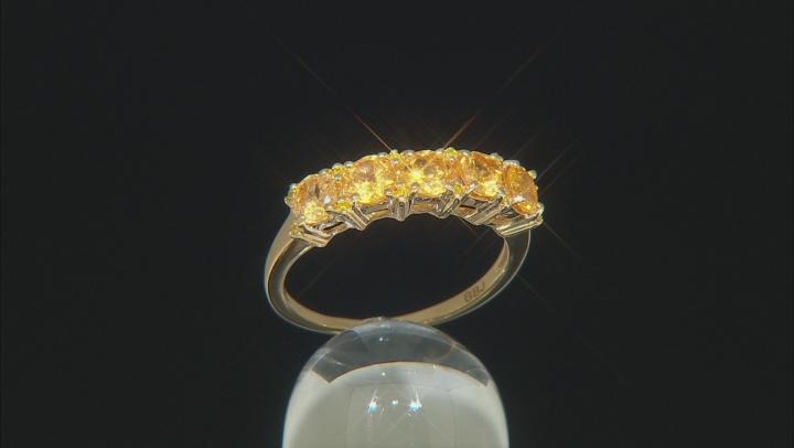 Orange Spessartite 18k Gold Over Sterling Silver Ring 1.30ctw