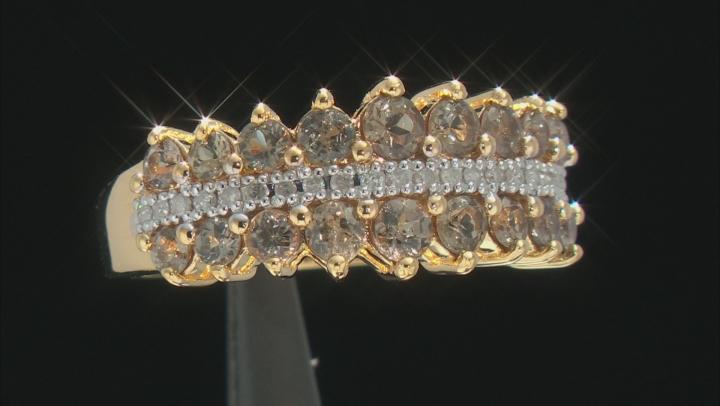 Pink color shift garnet 18k gold over silver ring 1.45ctw