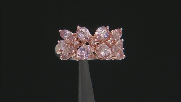 Multi-color Garnet 18k rose gold over sterling silver ring 2.39ctw