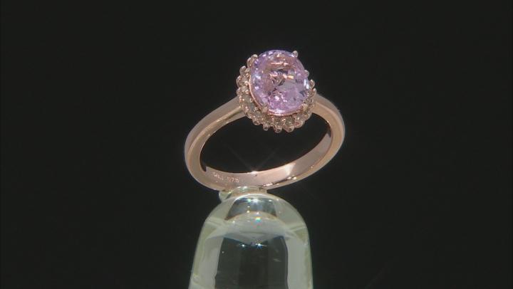 Pink Kunzite 18K Rose Gold Over Sterling Silver Ring 2.13ctw