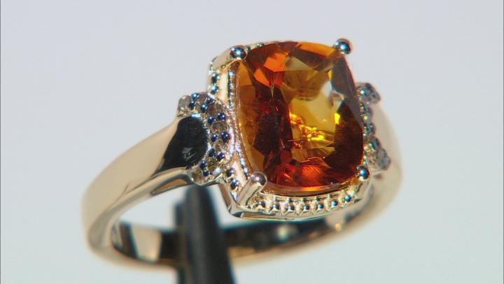 Orange Citrine 18k Gold Over Sterling Silver Ring 2.41ctw