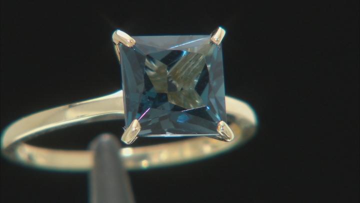 Blue Topaz 10K Yellow Gold Ring 2.48ct