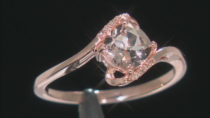 Peach Cor-De-Rosa Morganite(TM) 10k Rose Gold Ring 0.73ctw