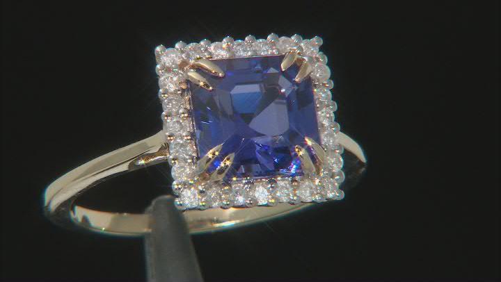 Blue Tanzanite 14K Yellow Gold Ring 2.62ctw