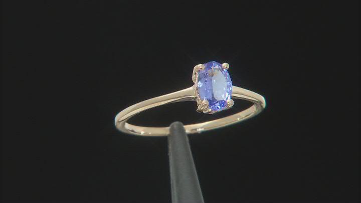 Blue Tanzanite 10k Yellow Gold Ring 0.75ct
