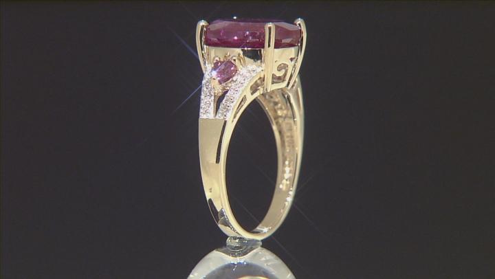 Lab Created Alexandrite 10k Yellow Gold Ring 6.50ctw