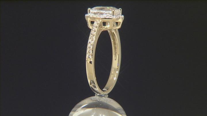 White Zircon 10k Yellow Gold Ring 2.63ctw