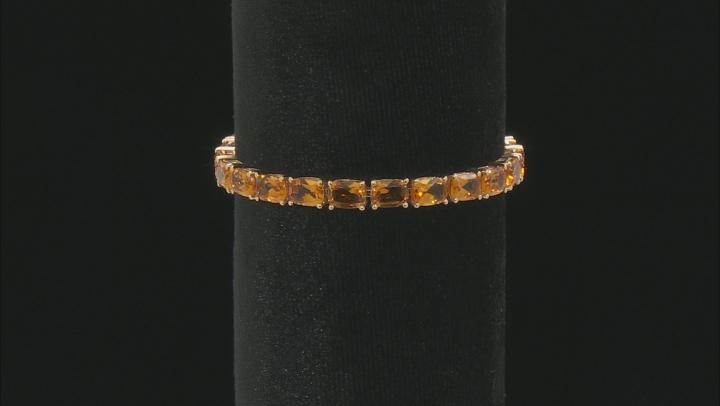 Orange Madeira Citrine 10k Yellow Gold Bracelet 18.06ctw