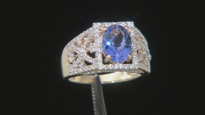 Blue Tanzanite 10k Yellow Gold Ring 2.01ctw